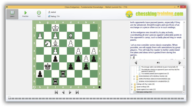 نرم افزار آموزش آخربازی Chess Endgames – Fundamental Knowledge